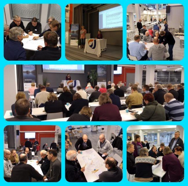Neuvottelukunta työssään. Erilaisia kuvia ryhmätyöskentelystä. Kuva: Virve Rinnola.