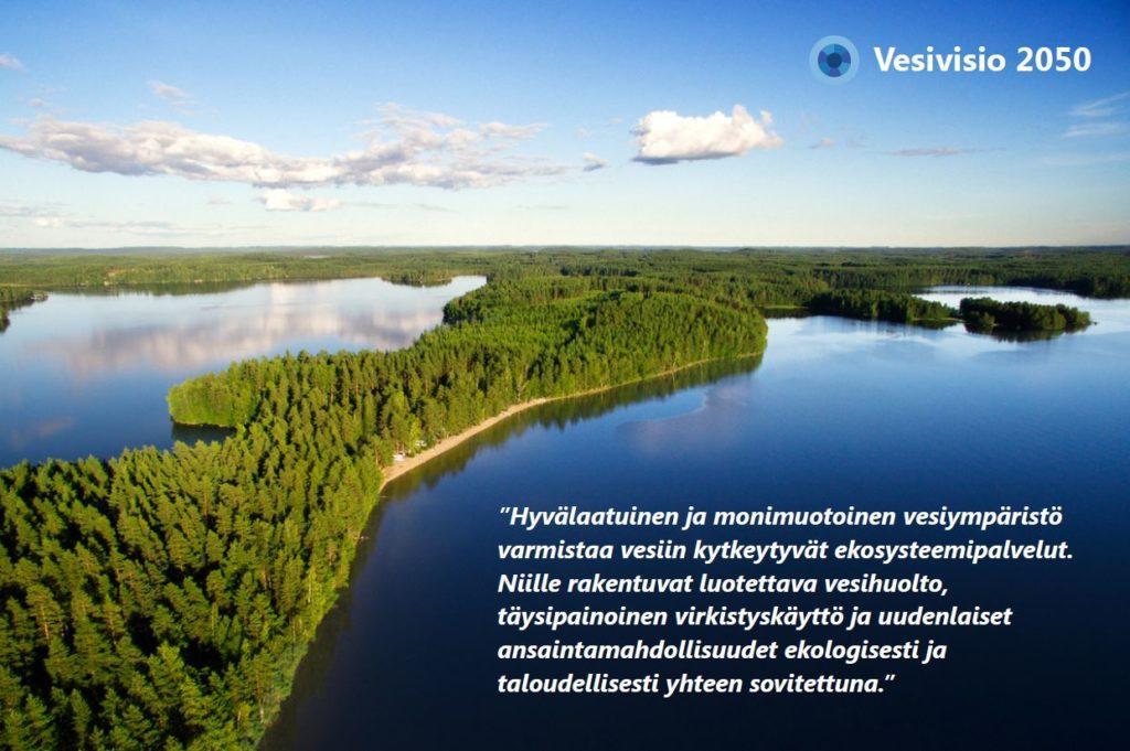 Esitteessä kerrotaan Kokemäenjoen vesistöalueen vesivisiosta tiivistetysti.