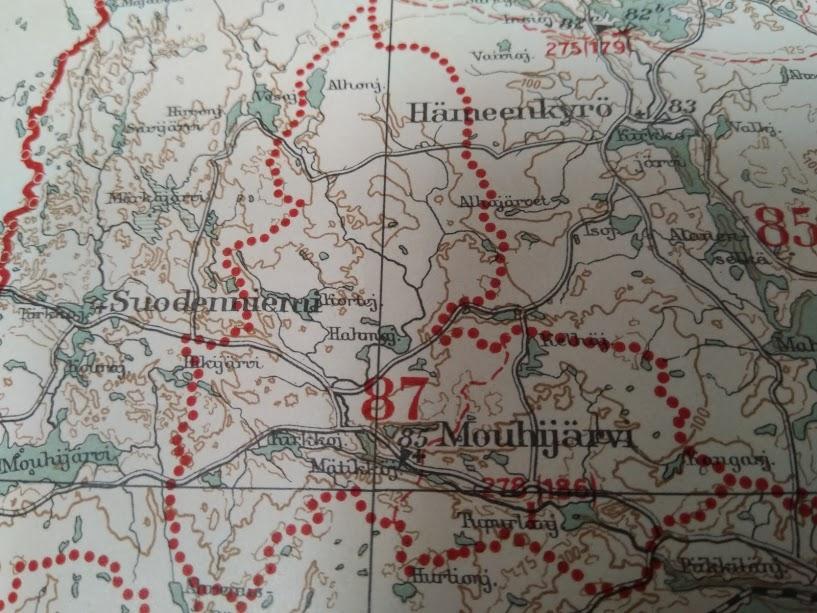 kuva vanhasta kartasta