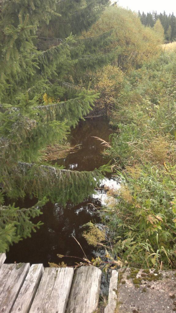 Kyröjoki oli emäpitäjien Kyrön ja Sastamalan rajajoki. Kuvassa joen vasen puoli on nykyistä Hämeenkyröä ja oikea puoli nykyistä Sastamalaa (kuvattu syyskuussa 2015). Kuva: Jouni Koskela
