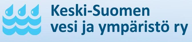 Keski-Suomen vesi- ja ympäristöyhdistys ry:n logo, jossa vesipisaroita ja aaltoja