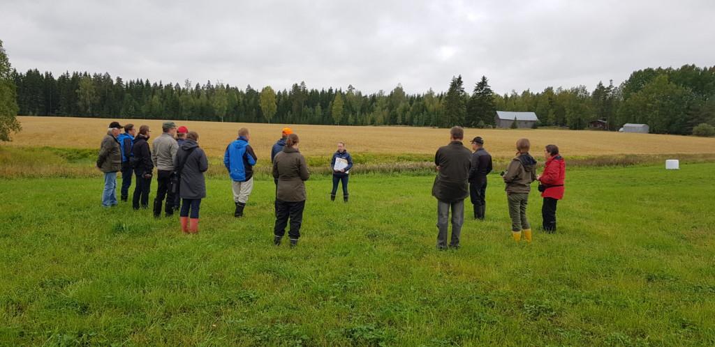 Kuvassa Loiku-hankkeen sidosryhmäläisiä. Kuvaaja Satu Heino, KVVY ry